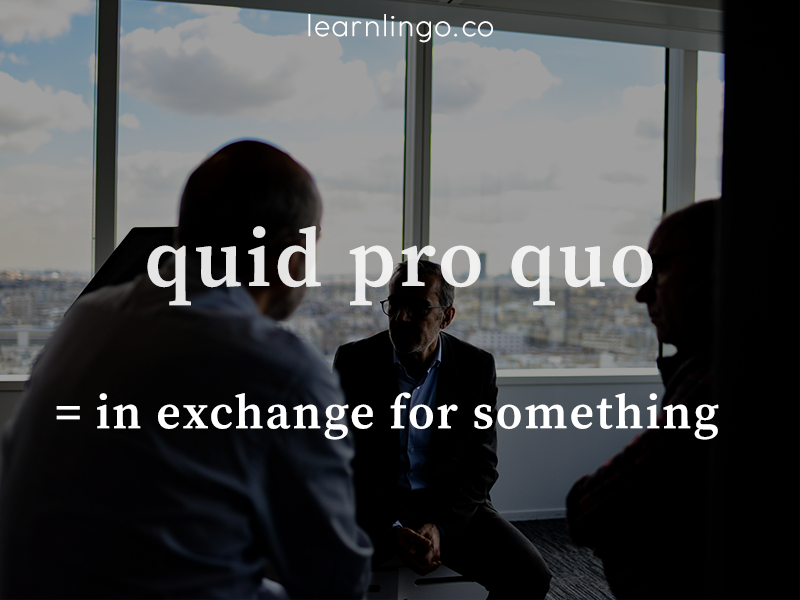 what does quid pro quo mean?